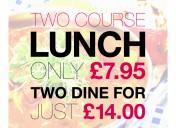 Lunch at Ramada   Weekdays 12pm-2pm